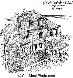 bretagna, francia, mont san-michel