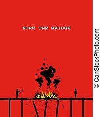 bruciatura, bridge.