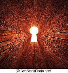 buco serratura, pietra