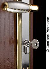 buco serratura, serratura, inserito