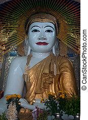 budda, shwe, kyat, seduta, myanmar., pagoda, yat