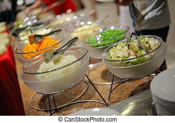 buffet, cibo