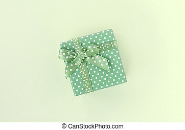 bugie, scatola, fondo, regalo, nastro, piccolo, verde, calce