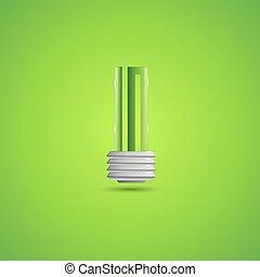 bulbo, illustrazione, luce