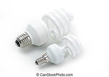 bulbo, lampada, isolato, fondo, fluorescente