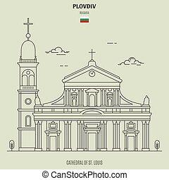 bulgaria., luigi, st., plovdiv, punto di riferimento, cattedrale, icona
