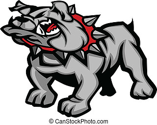 bulldog, corpo, vettore, illustra, mascotte