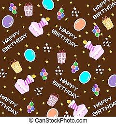 buon compleanno, fondo, seamless