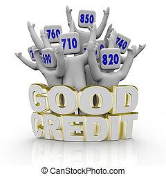 buono, applauso, persone, -, credito, decine e decine