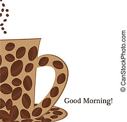 buono, tazza, caffè, mattina