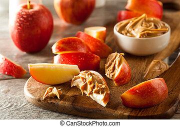 burro, arachide, organico, mele