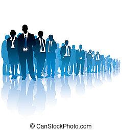 businesspeople, folla
