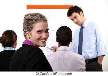 businesspeople, meeting.