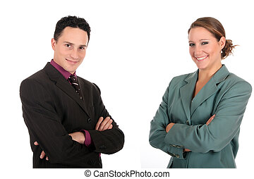 businesspeople, sorridente