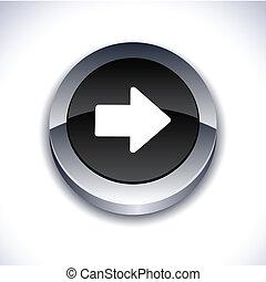 button., freccia, 3d