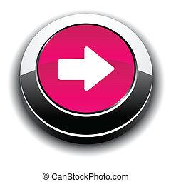button., rotondo, freccia, 3d