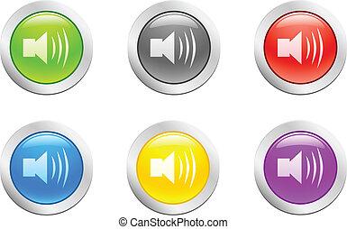 button., [vector], suono