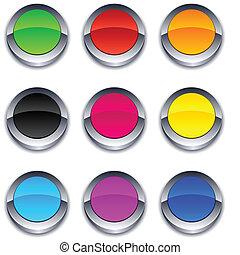 buttons., rotondo, 3d
