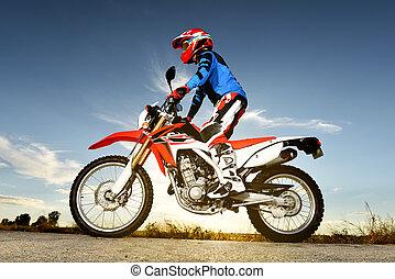 byke, motocross, uomo