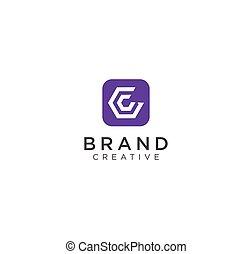 c, esagono, domanda, logotipo, mobile, disegno, icona, lettera, appartamento