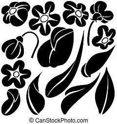 c, fiore, elementi