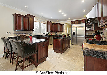 cabinetry, cucina, legno, ciliegia