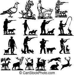 caccia, silhouette, collezione