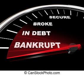 cacciarsi, -, finanziario, tachimetro, fallimento