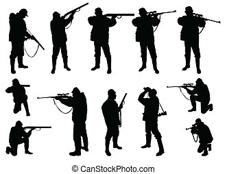 cacciatori, silhouette