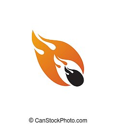 cadere, disegno, sagoma, meteora, logotipo