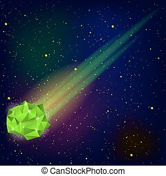 cadere, verde, meteora