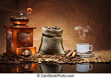 caffè, accessori, stuoia
