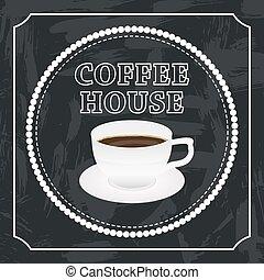 caffè, bandiera, tazza