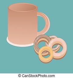 caffè, buono, tazza, luce, cima, text., mattina, disegno, fondo, manifesto, vista., minimo