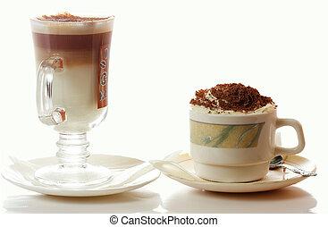 caffè, cappuccino, latte