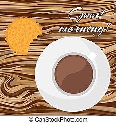 caffè, cracker, tazza