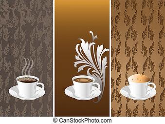 caffè, cups.