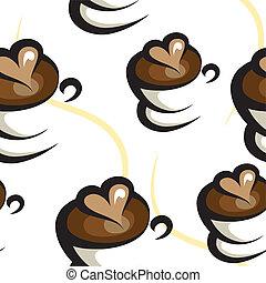 caffè, fondo, seamless