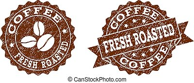 caffè, grunge, francobollo, struttura, sigilli, colorare, arrostito, fresco