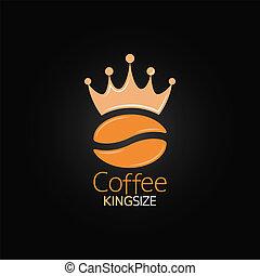 caffè, menu, corona, fagiolo, disegno, fondo