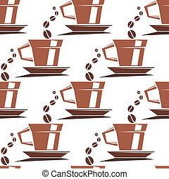 caffè, modello, campanelle, seamless