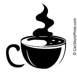 caffè nero, silhouette