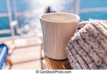 caffè, principale, ponte, spedisca crociera, rottura