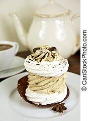caffè, raffinato, torta