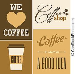 caffè, retro, collezione
