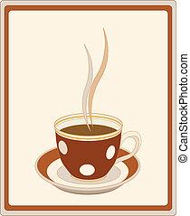 caffè, retro, tazza