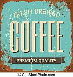 caffè, segno metallo