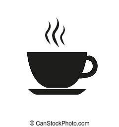 caffè, tè caldo, tazza, bevanda, nero
