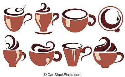 caffè tè, set., tazza