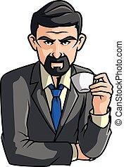 caffè, uomo
